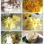 салат курица с ананасом приготовление