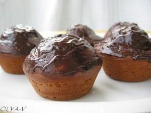 маффины с шоколадом и начинкой из творога