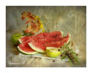 арбузы с яблоками