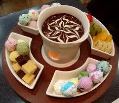 шоколадное- фондю