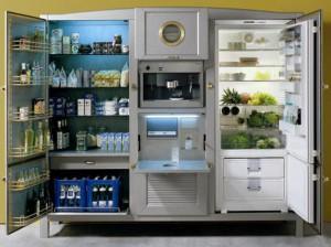 большой холодильник вид изнутри