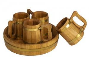 деревянные пивные кружки