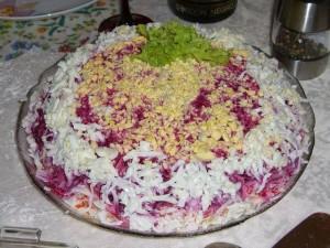 салат с селедкой оформление
