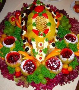 красиво оформленное ресторанное блюдо