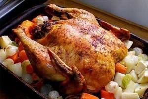 курица жаренная по-домашнему