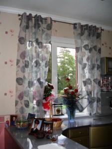 шторы с люверсами на кухню