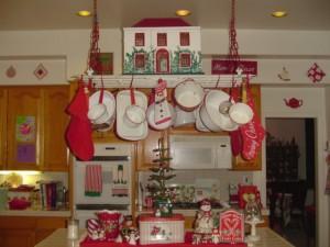 украсить кухню на новый год