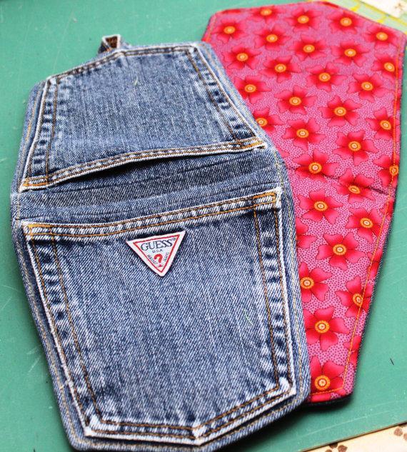 Прихватки из джинс своими руками