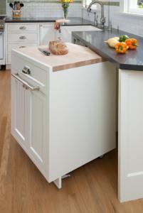 передвижной шкаф на кухне