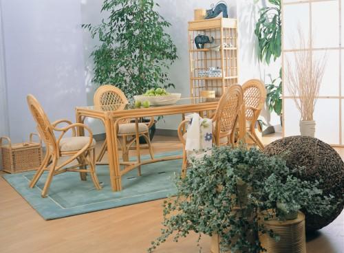 плетеная мебель для кухни