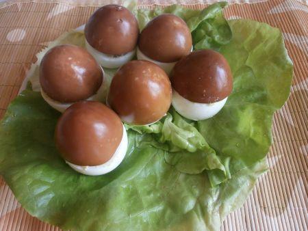 фаршированные яйца грибочки