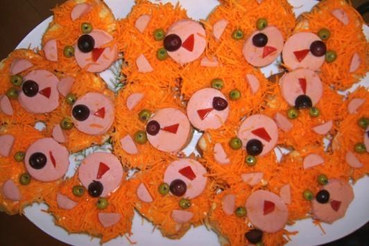 праздничные бутерброды детские мишки