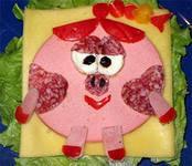 праздничные бутерброды детские нюша
