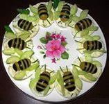 праздничные бутерброды пчелки