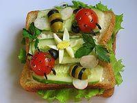 праздничные бутерброды полянка