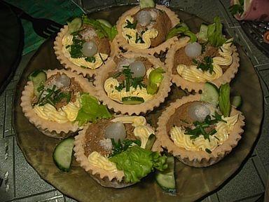 закуска праздничная в тарталетках
