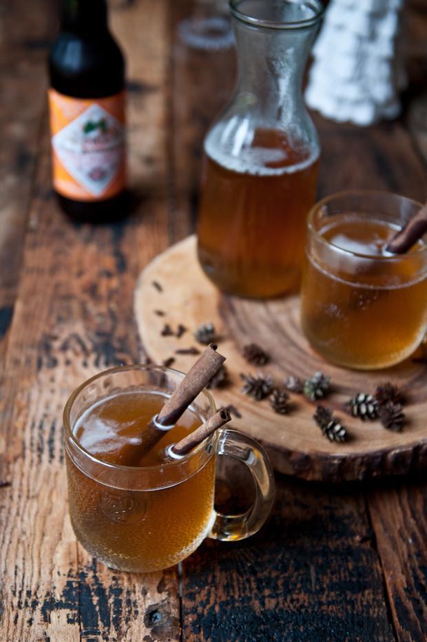 горячий алкогольный напиток сидр