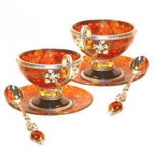 янтарные чайные чашки