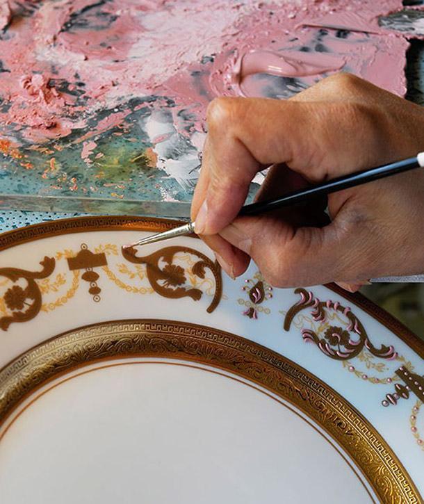 ручная роспись фарфора Haviland