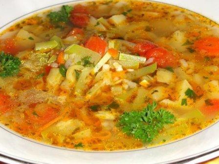 тарелка супа из кабачка