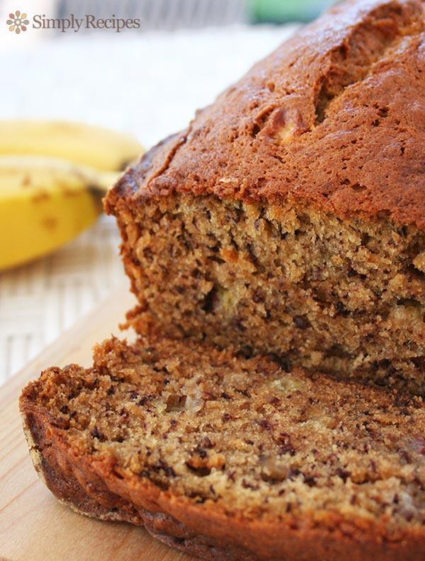 Готовый банановый хлеб (кекс)
