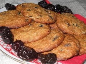 овсяное печенье с черносливом от Юлии Высоцкой