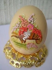 вышитая скорлупа от яиц