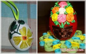 вышивка на яйцах Лариса Рутковская