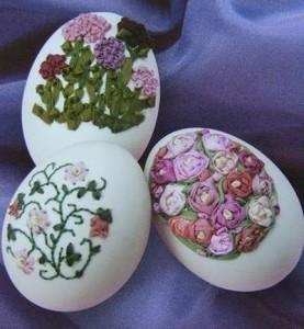 вышивка по скорлупе от яиц