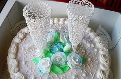 свадебный торт декор айсингом
