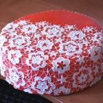 гибкое кружево на торт в домашних условиях