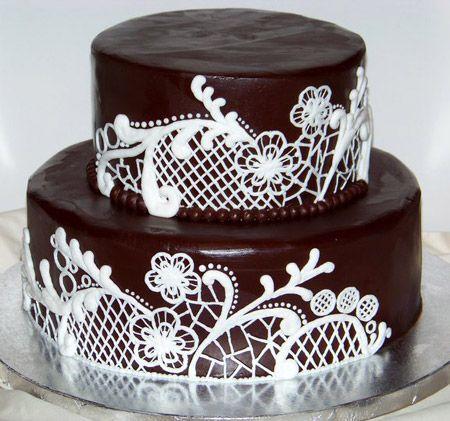 как сделать кружева на торт своими руками