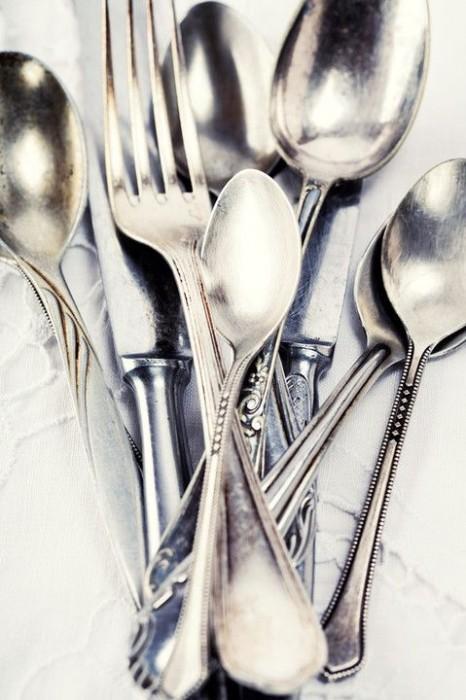 как почистить столовые приборы из серебра