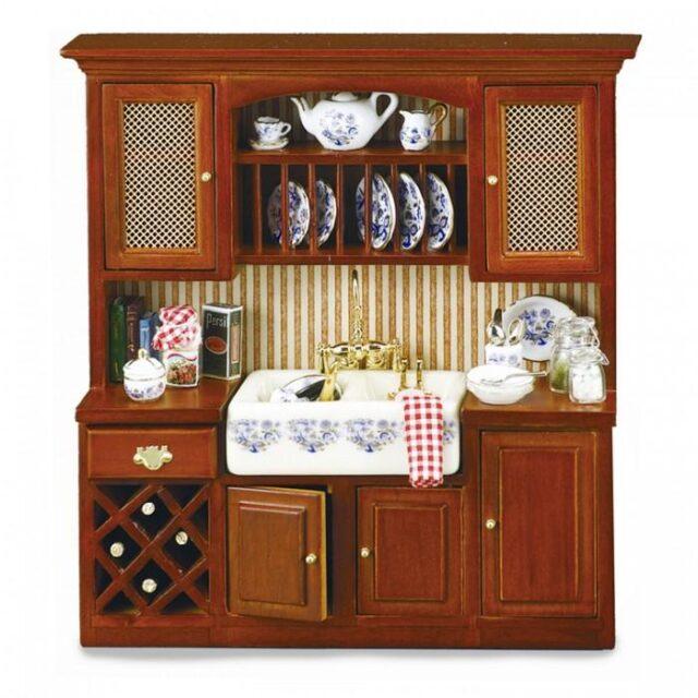 кухонная мойка из фарфора с росписью под гжель
