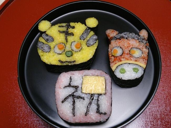 красивые суши мордочки животных