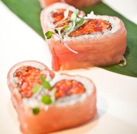 красивые суши сердечки