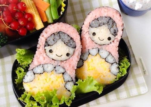 красивые суши матрешки
