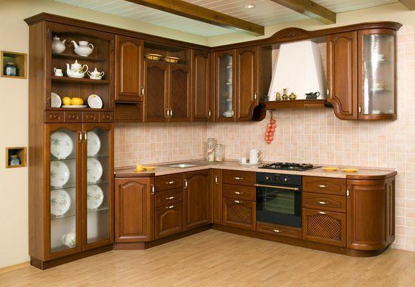 гарнитур для кухни из натурального дерева