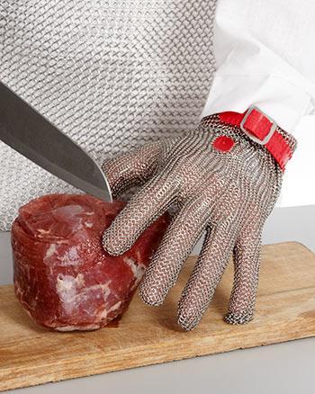 пятипалые перчатки кольчужные niroflex
