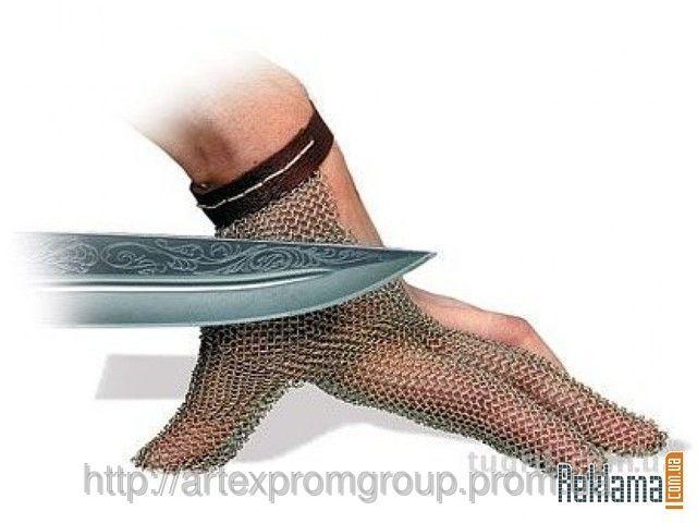 трехпалые кольчужные перчатки niroflex