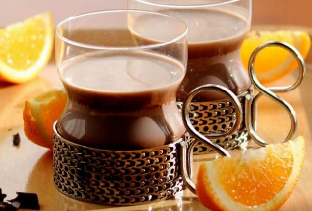 как сварить какао на молоке с апельсиновым ликером