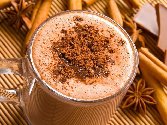 какао на молоке с ванилью и специями