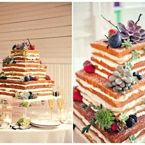 квадратный открытый свадебный торт с фруктами