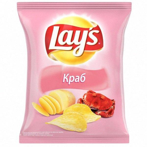 Чипсы Lays с крабовым вкусом