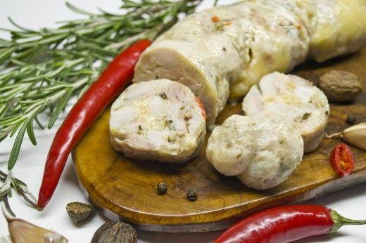 вареная домашняя колбаса из индейки
