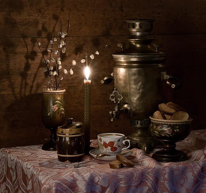 Вечернее чаепитие с медом
