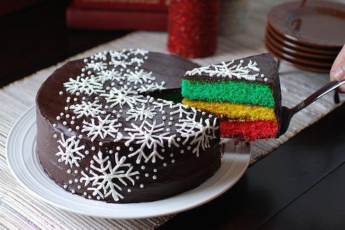 как украсить торт на новый год 2017 снежинками