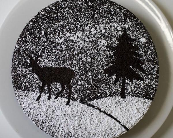 как украсить торт на год огненного петуха сахарной пудрой