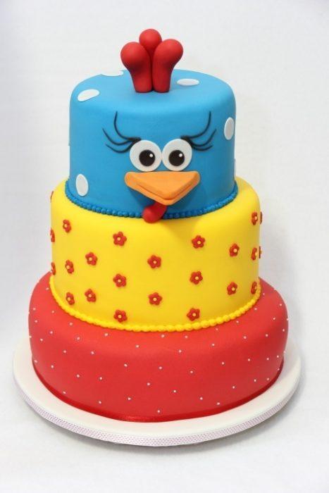 как украсить торт на новый год 2017 год петуха