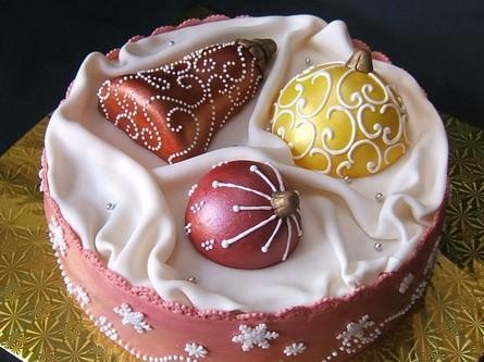 как украсить торт на новый год мастикой